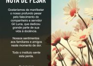 NOTA DE PESAR – Gil Luna