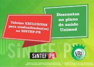 Parceria do sindicato traz tabela exclusiva do plano de saúde Unimed para sindicalizadas(os)