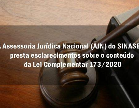 Assessoria Jurídica do SINASEFE presta esclarecimentos sobre a Lei Complementar 173/2020