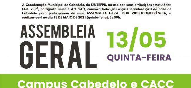 13/05 às 9h: Assembleia Geral Cabedelo e CACC. Confira a pauta!