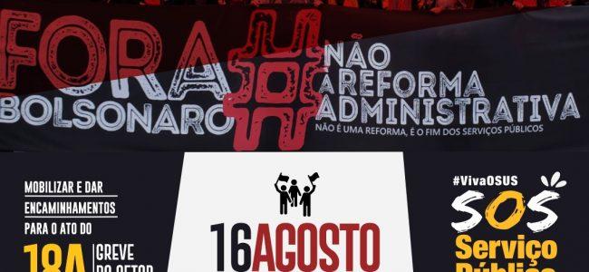 16/08 às 18h: Assembleia dos(as) Servidores(as) Públicos(as) e demais Trabalhadores(as) do Estado da Paraíba