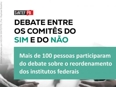 Comunidade acadêmica participou de debate sobre reordenamento dos IFs